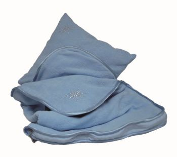 Blanket and pillow blue KP06